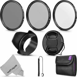 55MM Altura Photo UV CPL ND4 Professional Lens Filter Kit an